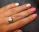 Серебряное кольцо с жемчугом Венера, фото 2