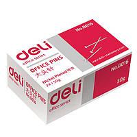 Булавка Deli 0016Е 24мм 50гр карт/кор