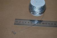Шнурок тонкий 1мм серебро