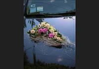 Оформление  свадебных машин живыми цветами, Киев