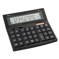 Калькулятор Deli 1661 черный, белый 12 разряд, 158х175х37,5 пластик корп, пластик кн (клав