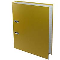 Регистраторы А4 Deli 39589 желтый 50мм 1стор покр PVC, мет окант