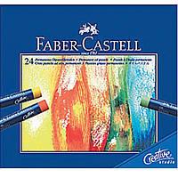 Пастели масляные Faber_Castell 127024 24цвета масляная Goldfaber  кар/уп