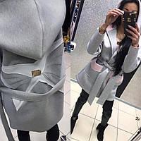 Paparazzi Fashion Женское Пальто из неопрена в двух цветах Серый и Хаки