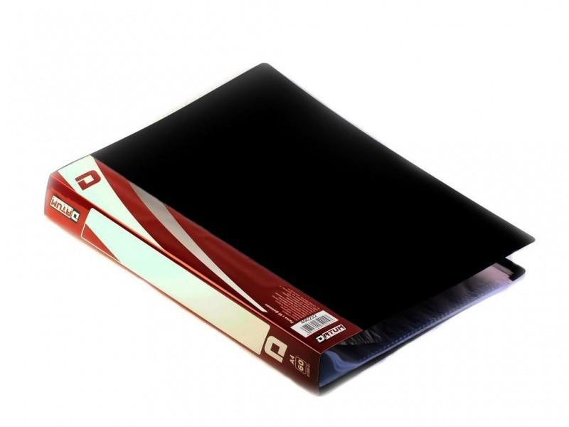 Папка з файлами Datum D1860-01 чорний А4 60ф 20мкм, пласт 600мкм