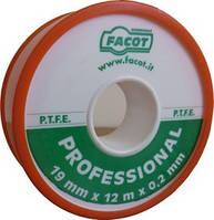 Тефлоновая уплотнительная лента Facot PROFESSIONAL 19 мм х 12 м