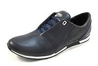 Кроссовки мужские NIKE кожаные, синие (найк)(р.41,42,44)