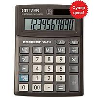Калькулятор Citizen SD-210 черный Correct 10 разряд, 103x138x24, пласт корп, пласт кн