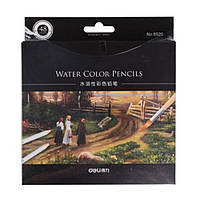 Карандаши цветные Deli 6520 48цветов шестигранные акварельные с кистью карт/кор