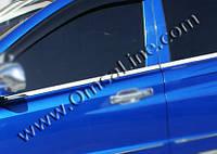 SsangYong Rexton II 2008+ и 2013+ гг. Наружняя окантовка стекол (4 шт, нерж) Carmos - Турецкая сталь