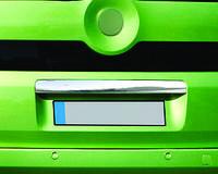 Peugeot Bipper 2008+ гг. Накладка над номером (нерж) OmsaLine - Итальянская нержавейка