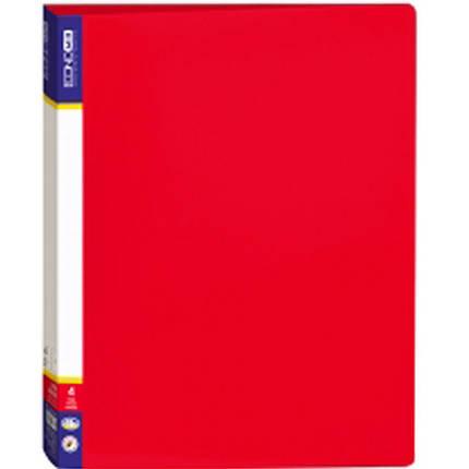Папка 4 кільця Economix 30702-03 червоний А4 пласт, фото 2