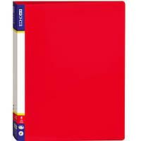 Папка на 4 кольца Economix 30702-03 красный А4 пласт