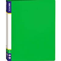 Папка на 4 кольца Economix 30702-04 зеленый А4 пласт