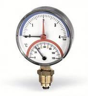 """Термоманометр Watts радиальный F+R828 80 1/2"""", 0-6 бар, 120 гр"""