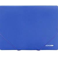 "Папка на резинке Economix 31601-02 синий А4 пластиковая, не прозрачная, 2 резинки, фактура ""бриллиант"""