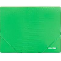 """Папка на резинке Economix 31601-04 зеленый А4 пластиковая, не прозрачная, 2 резинки, фактура """"бриллиант"""""""
