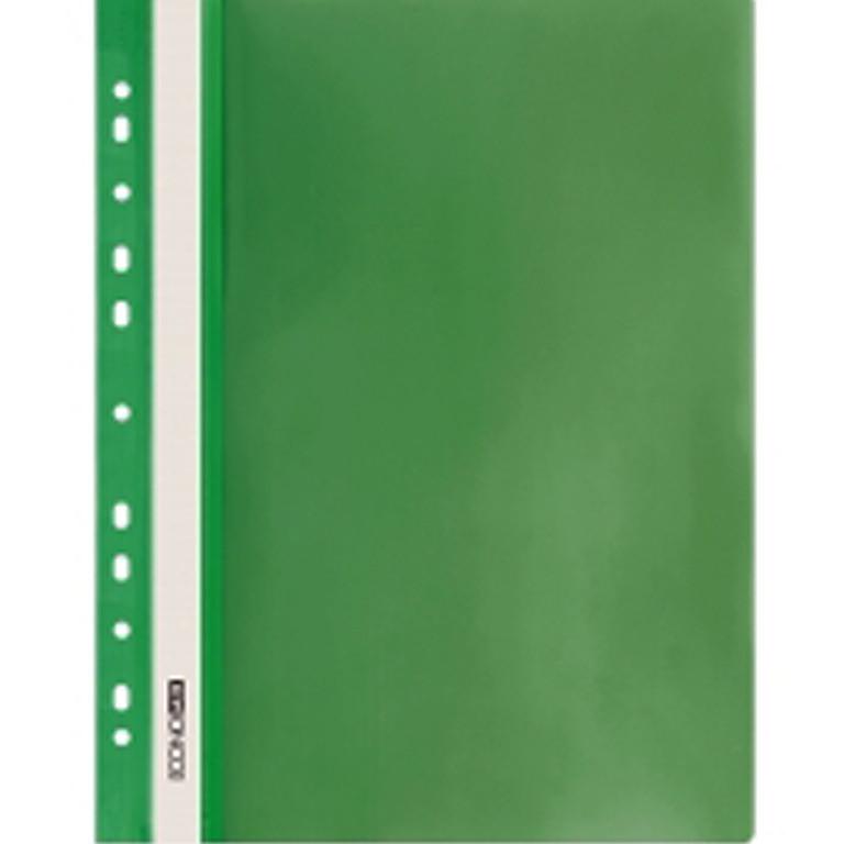 Швидкозшивач Economix 31508-04 зелений А4 РР прозорий верх, з перфорацією