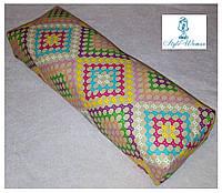 Подставка подлокотник для маникюра подушка из кожзама орнамент