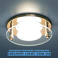 Врезной точечный светильник Delux HDL16007 со стеклом, золото.