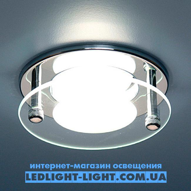 Врезной точечный светильник Delux HDL16007 со стеклом, хром.