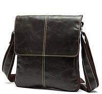 Мужская кожаная сумка-мессенджер BEXHILL кофейного цвета