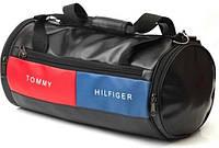 Кожаная спортивная сумка бочка Tommy Hilfiger