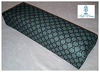 Подставка подлокотник для маникюра подушка из кожзама серая