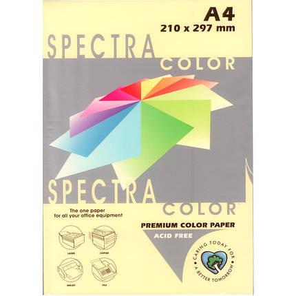 """Бумага пастельных тонов Spectra_Color 110 кремовый А4 80гр 500л """"Spectra_Color"""" паст, фото 2"""