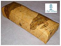 Подставка подлокотник для маникюра подушка из кожзама карта