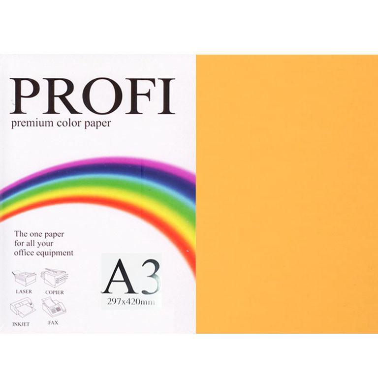 """Папір флуоресцентних тонів PROFI 371 (36367) жовто-гарячий А3 75гр 500л """"Cyber Orange"""" неон"""