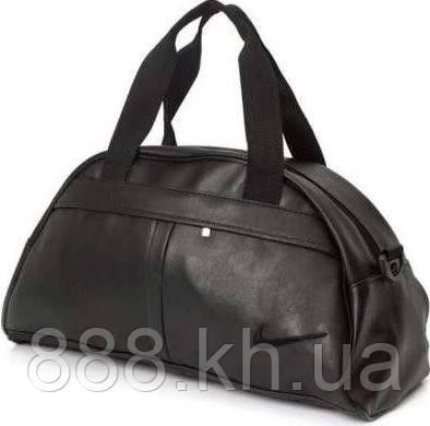 Спортивная сумка Nike логотип черный  реплика