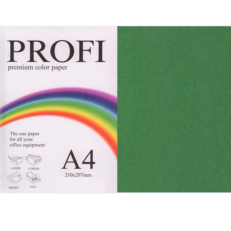 """Бумага насыщенных тонов PROFI 41А (36398) темно-зеленый А4 160гр 250л """"Intense Asparagus"""" насыщенный"""