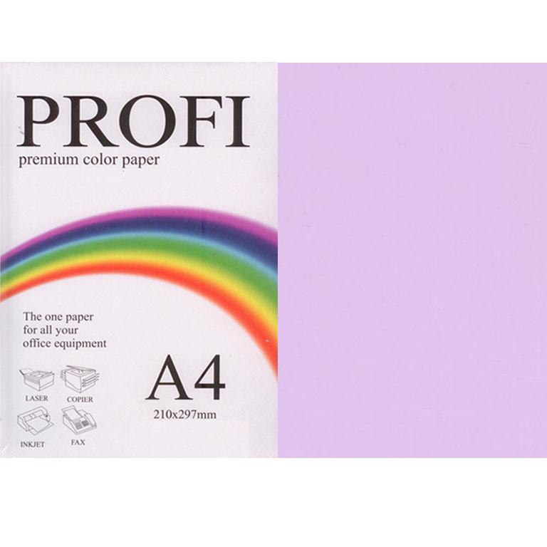 """Папір пастельних тонів PROFI 185 (36433) ліловий А4 80гр 500л """"Light Lavender"""" пастельний"""