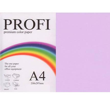 """Папір пастельних тонів PROFI 185 (36433) ліловий А4 80гр 500л """"Light Lavender"""" пастельний, фото 2"""