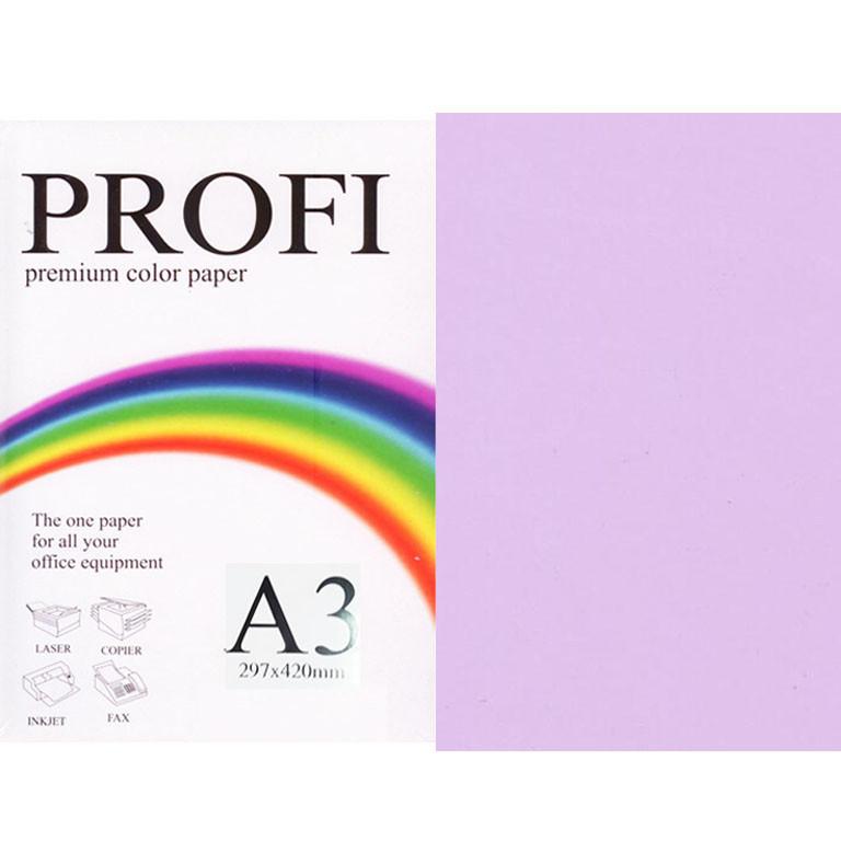 """Бумага пастельных тонов PROFI 185 (43194) лиловый А3 80гр 500л """"Light Lavender"""" пастельный"""