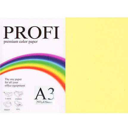 """Бумага пастельных тонов PROFI 160 (36383) желтый А3 80гр 500л """"Light Yellow"""" пастельный, фото 2"""