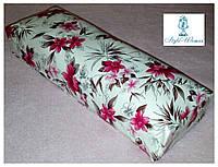 Подставка подлокотник для маникюра подушка из кожзама цветы