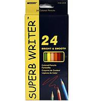 """Карандаши цветные Marco 4100-24CB 24цвета D2,9мм шестигранные """"SuperB Writer"""", картонная коробка с подвесом"""
