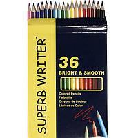 """Карандаши цветные Marco 4100-36CB 36цветов D2,9мм шестигранные """"SuperB Writer"""", картонная коробка с подвесом"""