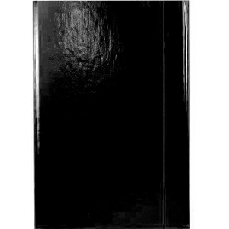 Папка на резинке Item 310/02 черный А4 карт ламин 1рез обьем