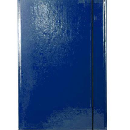 Папка на резинке Item 310/03 синий А4 карт ламин 1рез обьем, фото 2