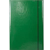 Папка на резинке Item 310/06 зеленый А4 карт ламин 1рез обьем