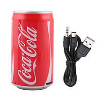 Портативная колонка Coca-Cola с MP3 плеером, FM-Радио!