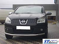 Nissan Qashqai 2007-2010 гг. Передний ус ST008 (нерж) 51 мм
