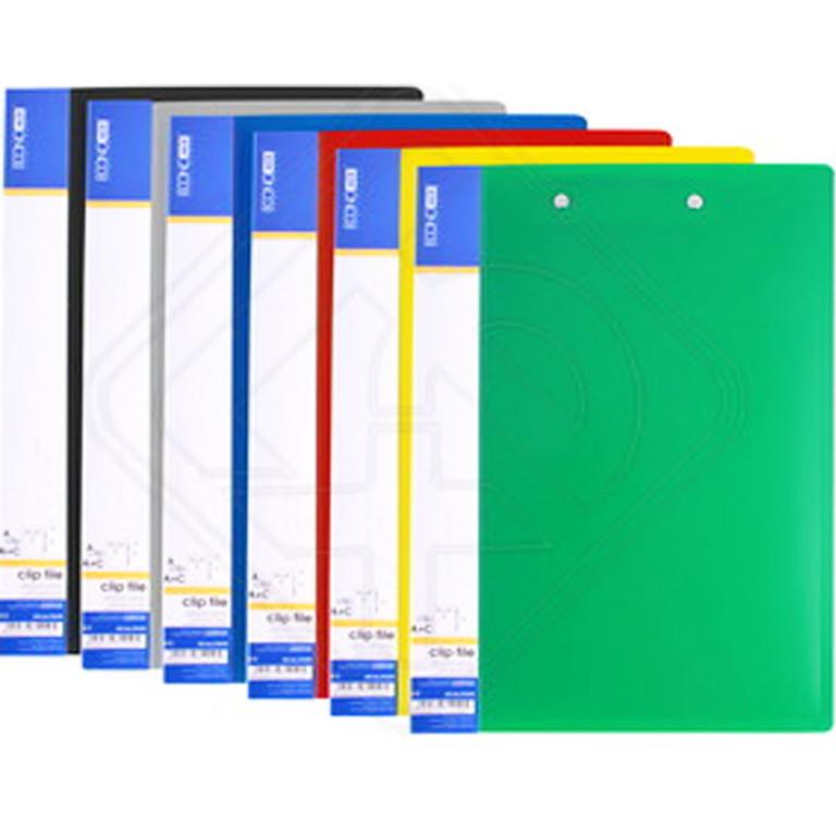Папка с зажимом Economix 31210 микс А4 18мм 2зажима длинный бок+верх, карм (0,5мкм)