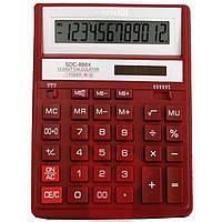 Калькулятор Citizen SDC-888XRD красный 12 разряд, 158х203,2х31, пласт корп, пласт кн