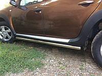 Renault Duster 2008+ гг. Боковые трубы BB001 (2 шт., нерж.) 42 мм