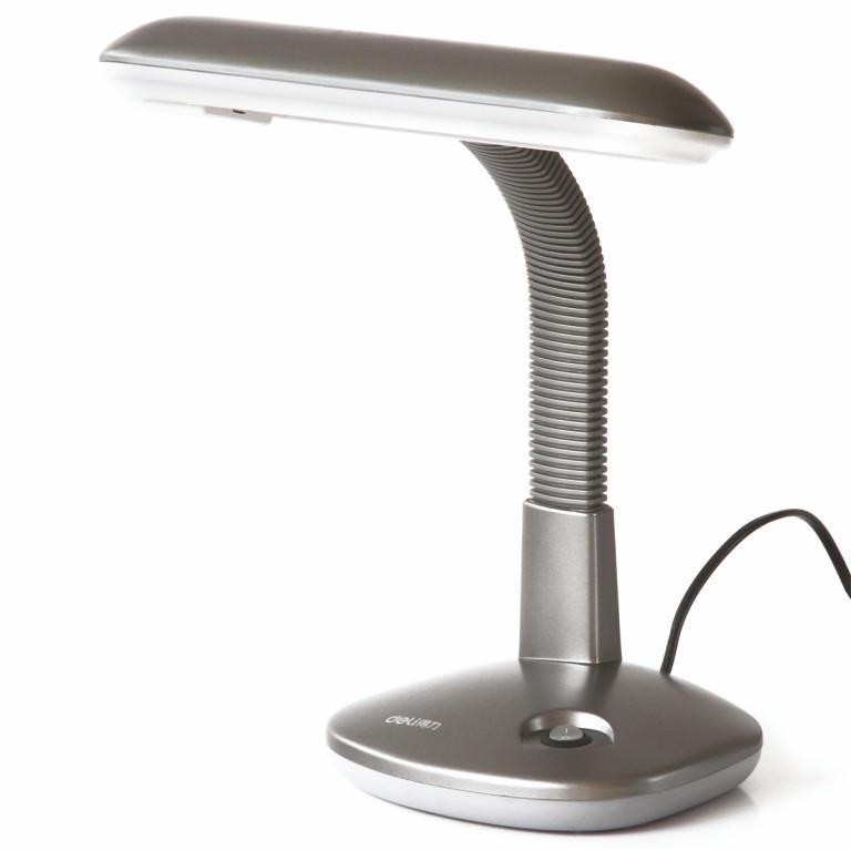Лампа настільна Deli 3672 мікс 1W овальний плафон сталева гнучка ніжка