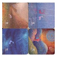 Блоки бумажные самоклеющиеся Deli 6438 микс 76х76мм 50л в цветной обложке